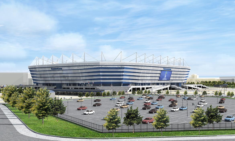 Модель Калининградского стадион (дневной вид)