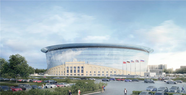 «Екатеринбург Арена» вид с птичьего полета
