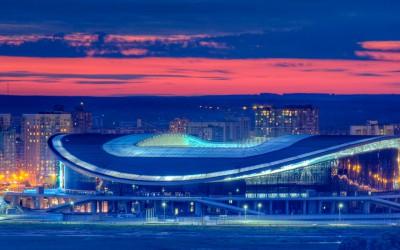 «Казань Арена» вечернее вид