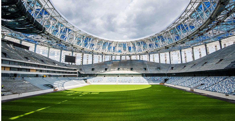 Стадион «Нижний Новгород» поле и трибуны
