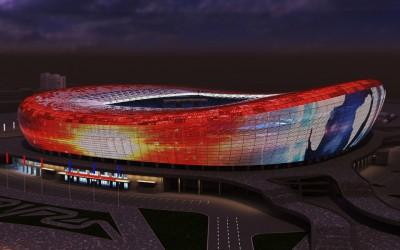 Стадион Юбилейный - ночью