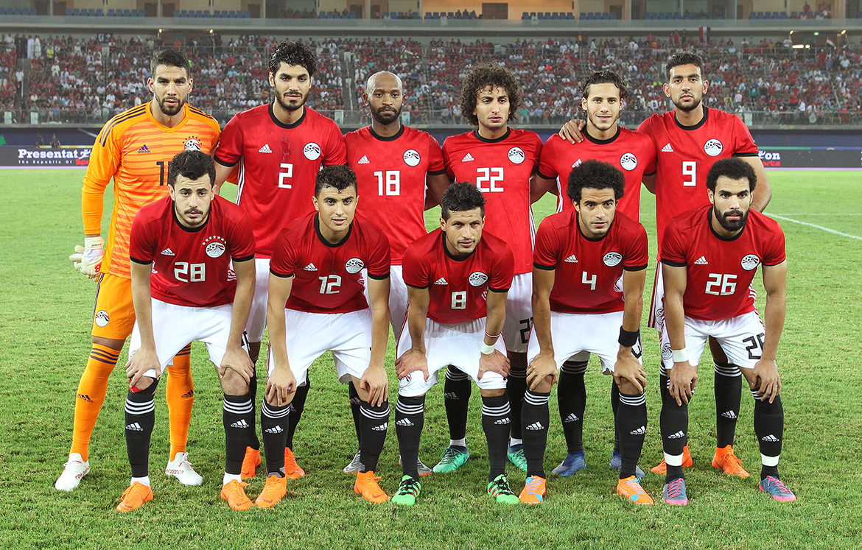 Футболисты сборной Египта