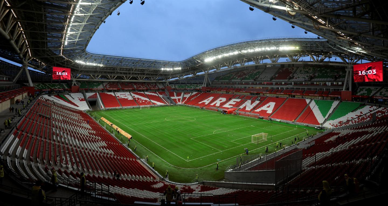 «Казань Арена» поле и трибуны