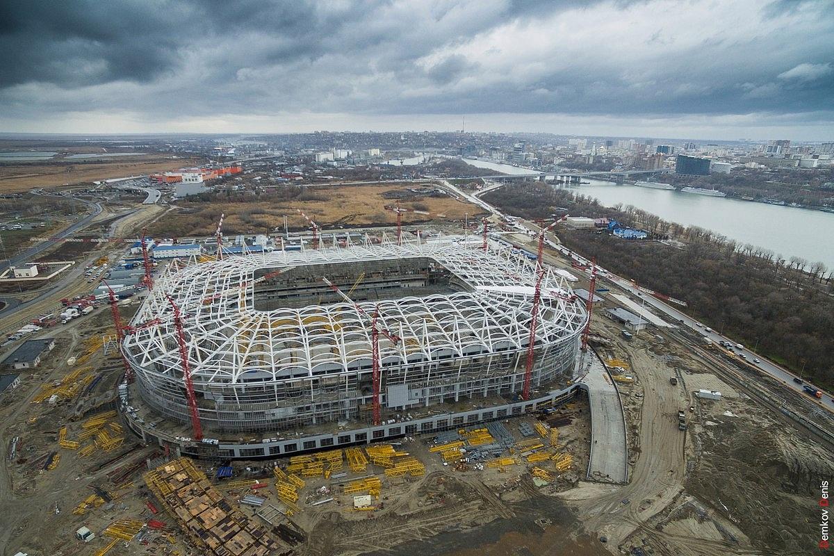 «Ростов-Арена» строительство продолжается